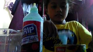 How to make slime with glue ,baby powder ,and Dynamo