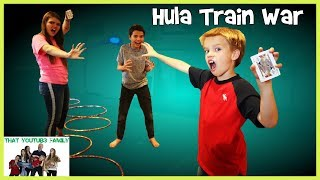 Hulu Hoop Showdown Train War Game  PLAYGROUND GAMES / That YouTub3 Family I Family Channel