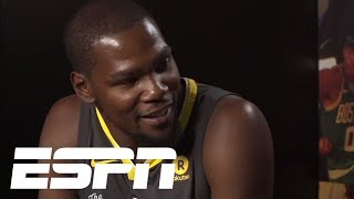 Kevin Durant says Steph Curry and him were