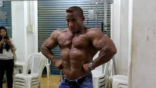 Arambam Bobby Singh Workout + Guest Posing(Isaac National Gym)