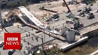 Miami rescue workers search for survivors after bridge collapse - BBC News