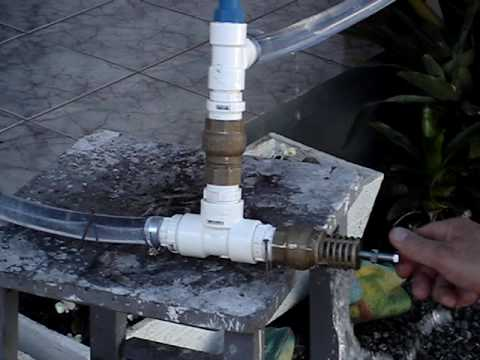 Carneiro Hidráulico Hydraulic ram pump Bomba de ariete