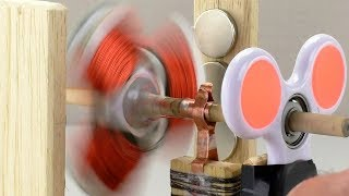 How to Make a Simple MOTOR out of SPINNER