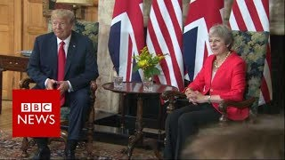 Trump comments on relationship with May - BBC News