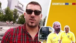 Caravana EuSunt12 spre Paris | Ziua 2: Fanii din Pitesti si din Craiova au cantat imnul pe stadion!