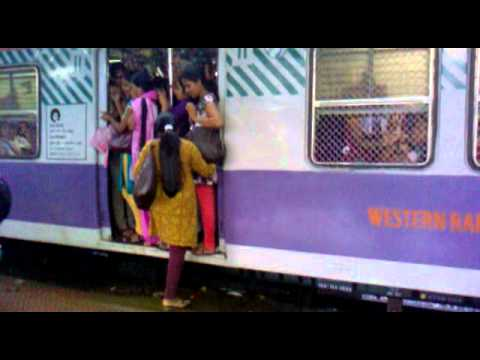 ladies compartment on train from andheri to virar at 6 50pm on 7th of july 2014  in mumbai india