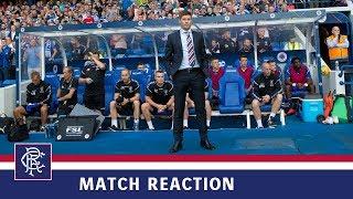 REACTION | Steven Gerrard | Rangers 2-0 Shkupi