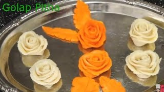 How To Make Golap Pitha (Rose Flower Pitha)