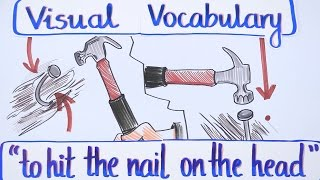 Visual Vocabulary - To Hit the Nail on the Head - English Vocabulary - Speak English Fluently