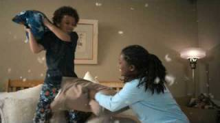 This is Julie Pillow Fight Commercial for West Corporation