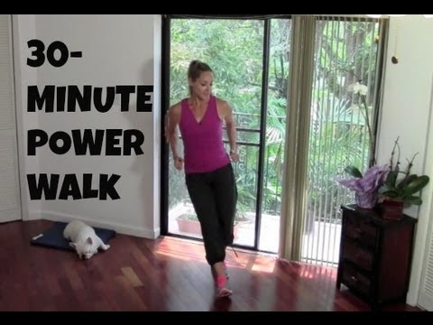 Indoor Walking Exercise Full Length 30 Minute Power Walk fat burning walking workout