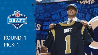 Jared Goff (QB) | Pick 1: Los Angeles Rams | 2016 NFL Draft