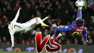 Lionel Messi vs Cristiano Ronaldo ● Who is better ? ● Battle Bicycle Kick  ● Best Moments