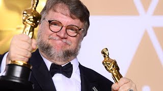 Guillermo Del Toro - Full Backstage Oscars Speech - Best Director / Best Picture