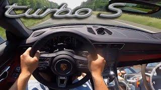 Porsche 911 Turbo S 2017 Acceleration Autobahn 295 km/h POV | 991 MK2 Turbo S