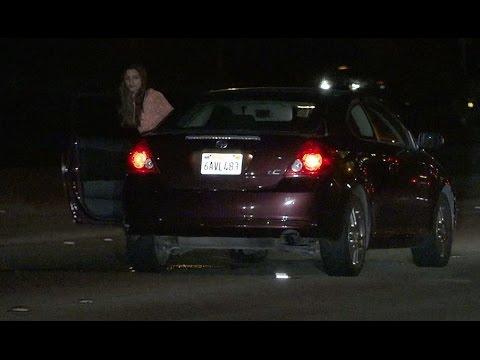 WATCH: Drunken woman wanders onto I-15 freeway