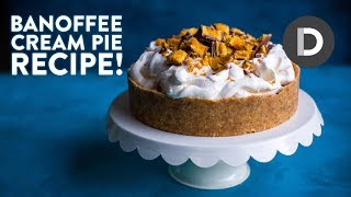 How to make... BANOFFEE PIE! Caramel Cream Banana Dessert!