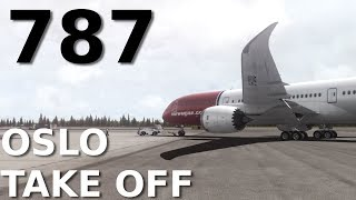 [FSX] QualityWings 787-9 || TAKE OFF at OSLO AIRPORT || + CLOUD SHADOWS!!
