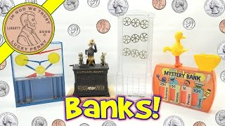 Kids Banks! Big Bird, Coin Sorters & Coin-U-Later Hand Held Learning Game