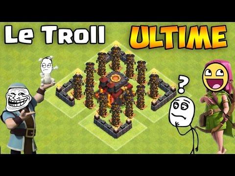 Troll Ultime - Le Village de la MORT ! Clash of Clans