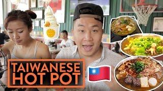 FUNG BROS FOOD: Taiwanese Hot Pot + Raw Honey Froyo ft. LeendaD