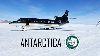 Jetflite's Falcon 7X at Antarctica