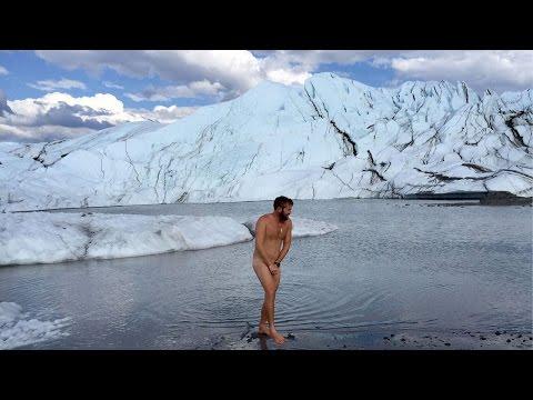 Skinny Dip In Ice Glacier