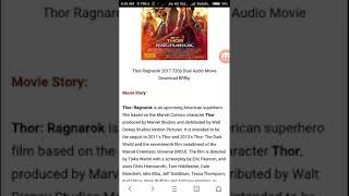 How to download thor ragnarok movie torrent in hindi 720p