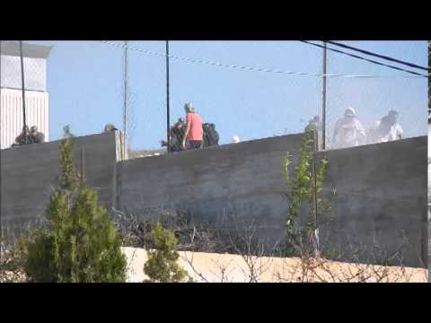 Urif school clash between Israeli settlers/military and Palestinian youth