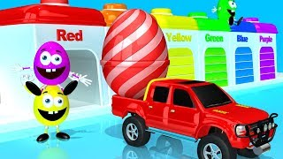 Magic 3D Truck Garage - Mr Eggie Learning Colors and Shapes from Ball filled Eggs