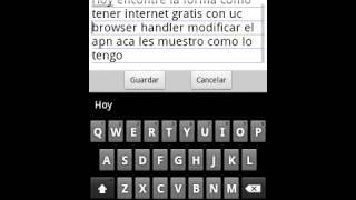 Internet Gratis Con UC860HandlerUI Android