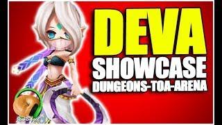SUMMONERS WAR : DEVA the Light Chakram Dancer - PVP & PVE Showcase