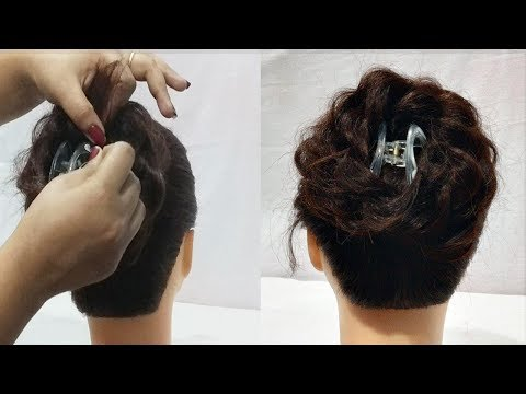 beautiful juda hairstyle using clutcher Everyday Hairstyles For Long hair New hairstyle