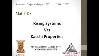 match 3 awareness corporate Trophy 2017 | kacchi properties | Rising systems