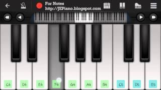Teri Meri (Bodyguard) - Mobile Perfect Piano Tutorial