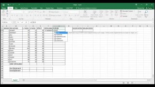 Excel Ortalama, Eğer, Eğersay, Mak, Min Kullanımı