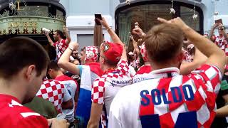 Croatia fans in Moscow before the final match. July 15, 2018