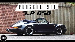 PORSCHE 911 3.2 G50 Cabriolet 1987 - Full test drive in top gear - Engine sound   SCC TV