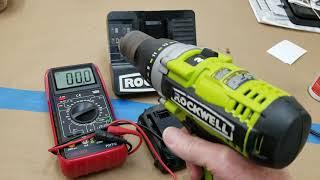 Rockwell drill 18 volt dead battery fix.