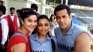 Rani Mukerji Preity Zinta Bipasha Basu spotted visiting Salman khan