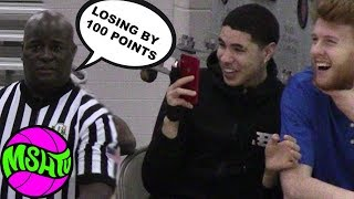"""LaMelo Ball Films as REF CLOWNS """"Getting Beat by 100 points""""  Rocket & Isaiah GO OFF"""