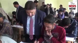 Altaf Bukhari conducts surprise visit of examination centers