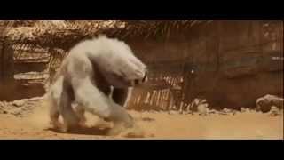 John Carter epic arena fight scene - John Carter fights white apes