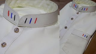 How To Make Gents wight Kurta Collar Design New 2018 Step By Step At Home kingsman tailor