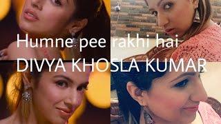 Divya Khosla Kumar inspired peach gold makeup from SANAM RE humne pee rakhi hai