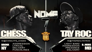TAY ROC VS CHESS SMACK/ URL RAP BATTLE