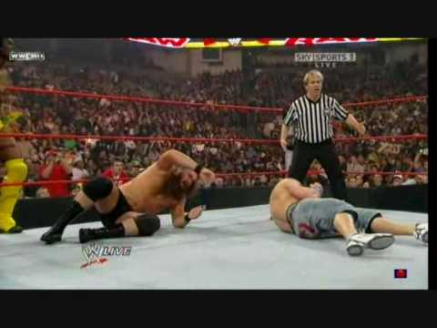 Mysterio & Cena & Kingston Vs Kane & Jericho & Mike Knox