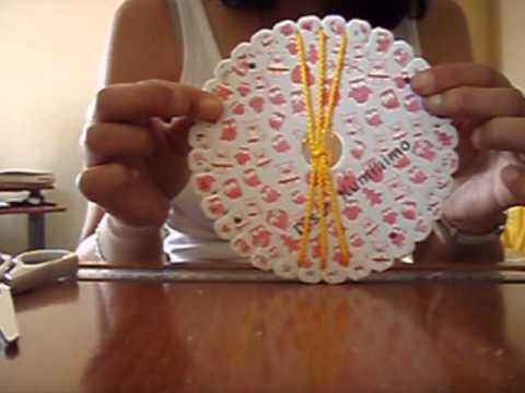 Pulsera plana con disco kumihimo redondo 6 6 13