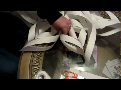 How to make a large 3D paper snowflake step by step