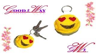 طريقة عمل تعليقة مفاتيح  بإستخدام قماش الجوخ \ How to make keychains diy